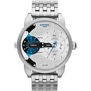 Men's Diesel Watch DZ7305 Mini Daddy Silver NEW